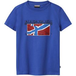 Oblačila Otroci Majice s kratkimi rokavi Napapijri NP0A4E52 Modra