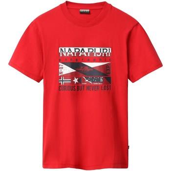 Oblačila Moški Majice s kratkimi rokavi Napapijri NP0A4E35 Rdeča