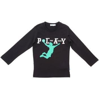 Oblačila Otroci Majice z dolgimi rokavi Melby 70C5524 Črna