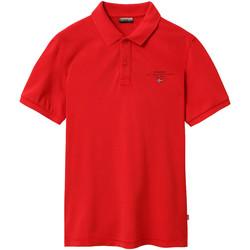 Oblačila Moški Polo majice kratki rokavi Napapijri NP0A4EGC Rdeča
