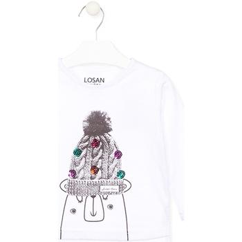 Oblačila Otroci Majice z dolgimi rokavi Losan 026-1007AL Biely