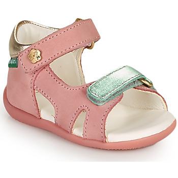Čevlji  Deklice Sandali & Odprti čevlji Kickers BINSIA-2 Rožnata