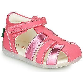 Čevlji  Deklice Sandali & Odprti čevlji Kickers BIGFLO-2 Rožnata