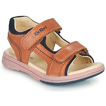 Čevlji  Dečki Sandali & Odprti čevlji Kickers PLATINO Kamel