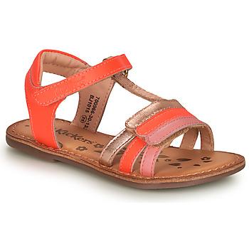 Čevlji  Deklice Sandali & Odprti čevlji Kickers DIAMANTO Rožnata