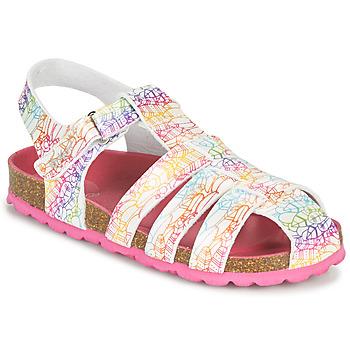 Čevlji  Deklice Sandali & Odprti čevlji Kickers SUMMERTAN Bela