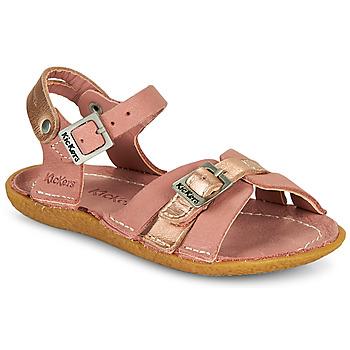 Čevlji  Deklice Sandali & Odprti čevlji Kickers PEPETE Rožnata