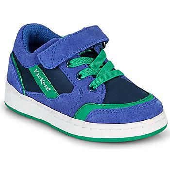 Čevlji  Dečki Nizke superge Kickers BISCKUIT Modra