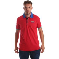 Oblačila Moški Polo majice kratki rokavi Napapijri N0YIG1 Rdeča