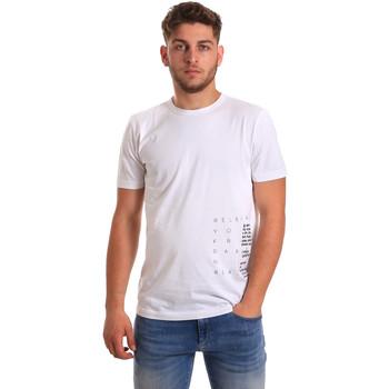 Oblačila Moški Majice s kratkimi rokavi Antony Morato MMKS01223 FA100144 Biely