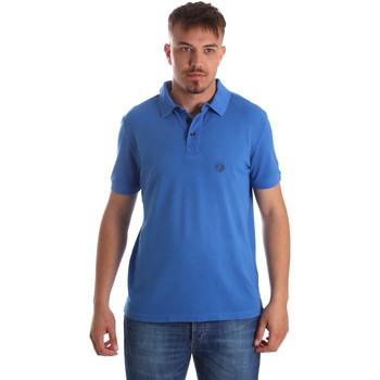 Oblačila Moški Polo majice kratki rokavi Gaudi 911BU64063 Modra