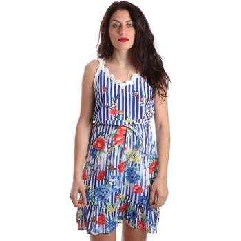 Oblačila Ženske Kratke obleke Fracomina FR19SP563 Modra