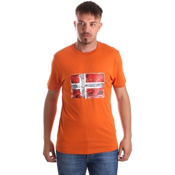 Oblačila Moški Majice s kratkimi rokavi Napapijri N0YIJ4 Oranžna