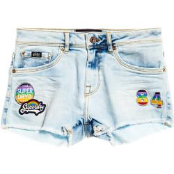 Oblačila Ženske Kratke hlače & Bermuda Superdry G70000YQF5 Modra