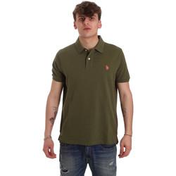 Oblačila Moški Polo majice kratki rokavi U.S Polo Assn. 55957 41029 Zelena