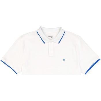Oblačila Moški Polo majice kratki rokavi Wrangler W7D5K4989 Biely