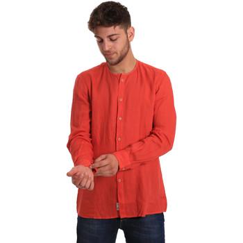 Oblačila Moški Srajce z dolgimi rokavi Gaudi 811BU45022 Rdeča