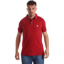 Oblačila Moški Polo majice kratki rokavi Gaudi 911BU64063 Rdeča