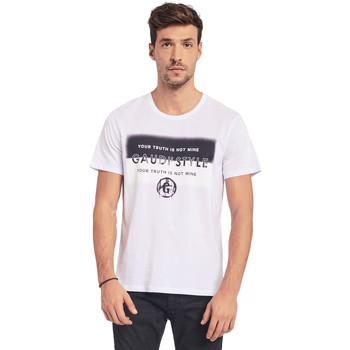Oblačila Moški Majice s kratkimi rokavi Gaudi 011BU64108 Biely