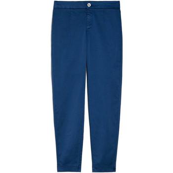 Oblačila Ženske Hlače Chino / Carrot NeroGiardini E060100D Modra