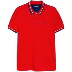 Oblačila Moški Polo majice kratki rokavi NeroGiardini E072390U Rdeča