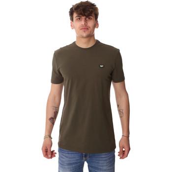 Oblačila Moški Majice s kratkimi rokavi Antony Morato MMKS01737 FA120022 Zelena