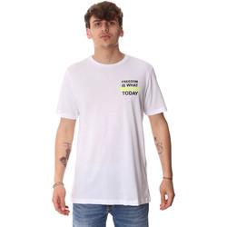 Oblačila Moški Majice s kratkimi rokavi Antony Morato MMKS01786 FA100189 Biely