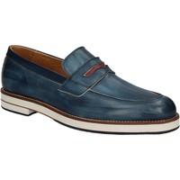 Čevlji  Moški Mokasini Exton 605 Modra