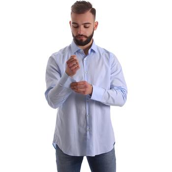 Oblačila Moški Srajce z dolgimi rokavi Gmf 962111/21 Modra