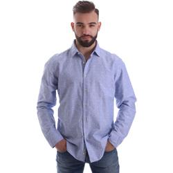 Oblačila Moški Srajce z dolgimi rokavi Gmf 962118/03 Modra