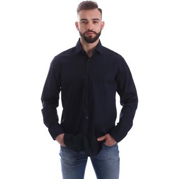 Oblačila Moški Srajce z dolgimi rokavi Gmf 962250/01 Modra