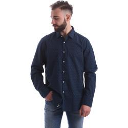 Oblačila Moški Srajce z dolgimi rokavi Gmf 962157/06 Modra