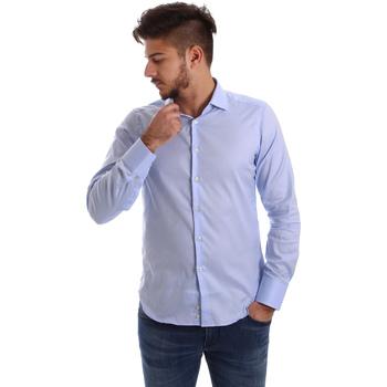 Oblačila Moški Srajce z dolgimi rokavi Gmf 962103/03 Modra