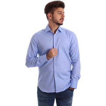 Oblačila Moški Srajce z dolgimi rokavi Gmf 962103/04 Modra