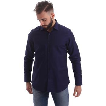 Oblačila Moški Srajce z dolgimi rokavi Gmf 962103/05 Modra