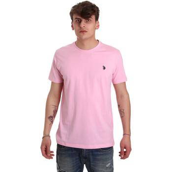 Oblačila Moški Majice s kratkimi rokavi U.S Polo Assn. 57084 49351 Roza
