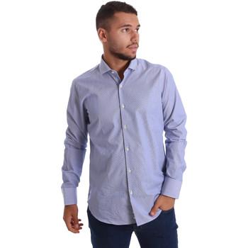 Oblačila Moški Srajce z dolgimi rokavi Gmf 971263/01 Modra