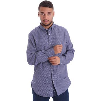 Oblačila Moški Srajce z dolgimi rokavi Navigare N691010BD Modra