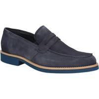 Čevlji  Moški Mokasini Rogers 1008B Modra
