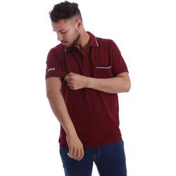 Oblačila Moški Polo majice kratki rokavi Key Up 2827Q 0001 Rdeča
