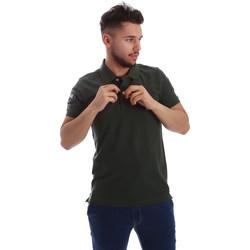 Oblačila Moški Polo majice kratki rokavi Key Up 255QG 0001 Zelena