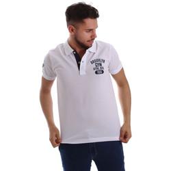 Oblačila Moški Polo majice kratki rokavi Key Up 255QG 0001 Biely