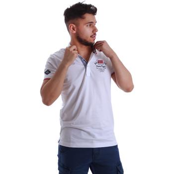 Oblačila Moški Polo majice kratki rokavi Key Up 262RG 0001 Biely