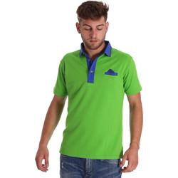 Oblačila Moški Polo majice kratki rokavi Bradano 000114 Zelena