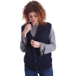 Oblačila Ženske Telovniki & Jope Wool&co WO0004 Modra