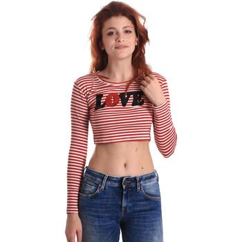 Oblačila Ženske Majice z dolgimi rokavi Fornarina BE175L14JG0976 Rdeča