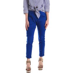 Oblačila Ženske Hlače Chino / Carrot Fornarina SE171L75G29112 Modra