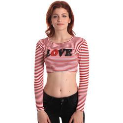 Oblačila Ženske Majice z dolgimi rokavi Fornarina SE175L14JG0976 Rdeča