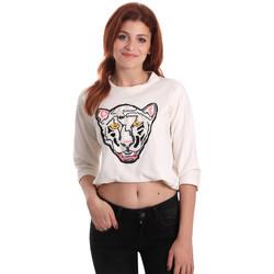 Oblačila Ženske Puloverji Fornarina SE176844F42709 Biely