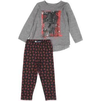 Oblačila Deklice Otroški kompleti Losan 626 8016AD Siva